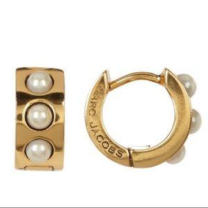 Marc Jacobs Simulated Pearl Huggie Earrings
